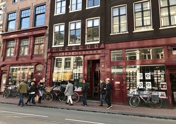 Concerto is Amsterdam's largest music shop selling rare vinyls and CDs.