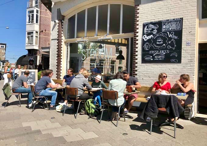 Stroom's outdoor terrace is a popular hangout for brunches and salads.
