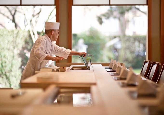 Michelin-starred Yamazato is renowned for its seasonal kaiseki cuisine.