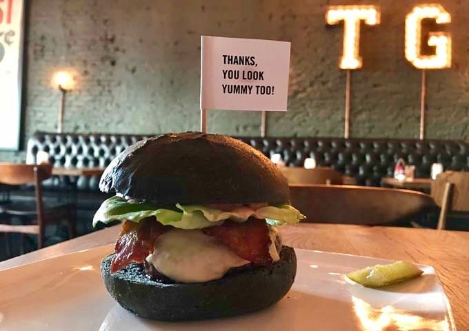 Thrill Grill serves exceleent gourmet burgers.