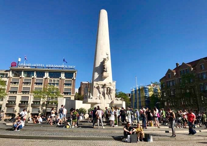 Nationaal Monument is a major tourist attraction in Dam square.