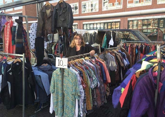 Waterlooplein flea market sells everything from clothes to food.