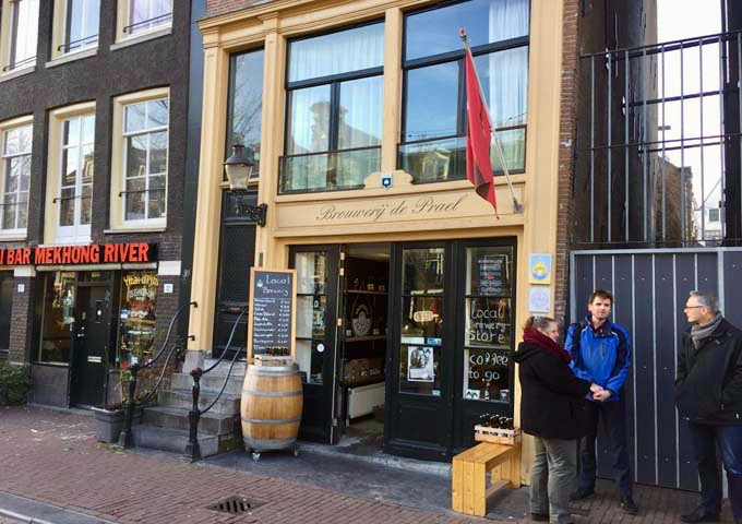 Brouwerij de Prael craft brewery has several brews on tap.