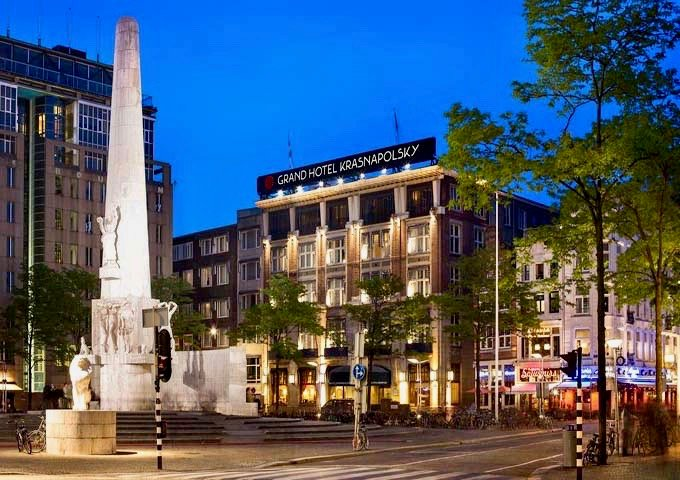 Review of NH Collection Grand Hotel Krasnapolsky in Amsterdam.
