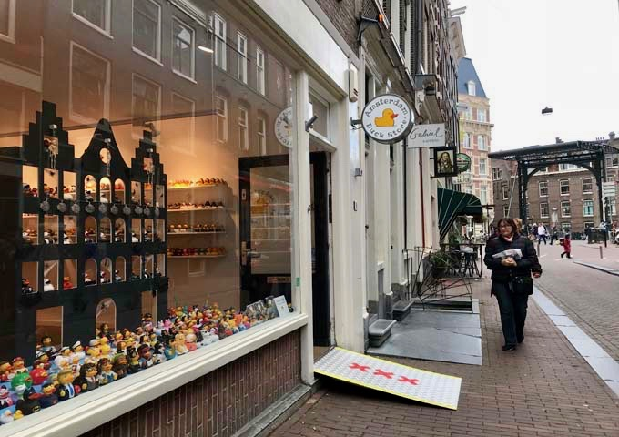The Amsterdam Duck Store is renowned for its extensive range of rubber ducks.