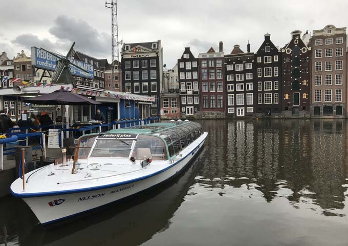 Most canal cruise boat companies use the dock off Damrak.