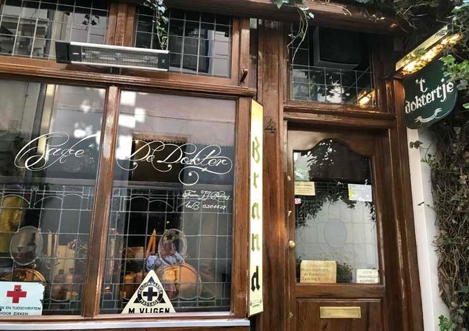 Café de Dokter is Amsterdam's smallest 18th century pub.