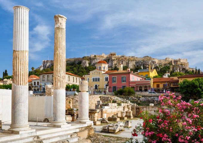 Best Places To Go Mainland Greece: The Plaka in Athens.