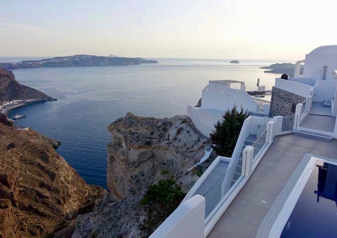 Aphrodite Villa offers views of the port, Akrotiri, Aspronisi, and the volcanoes.