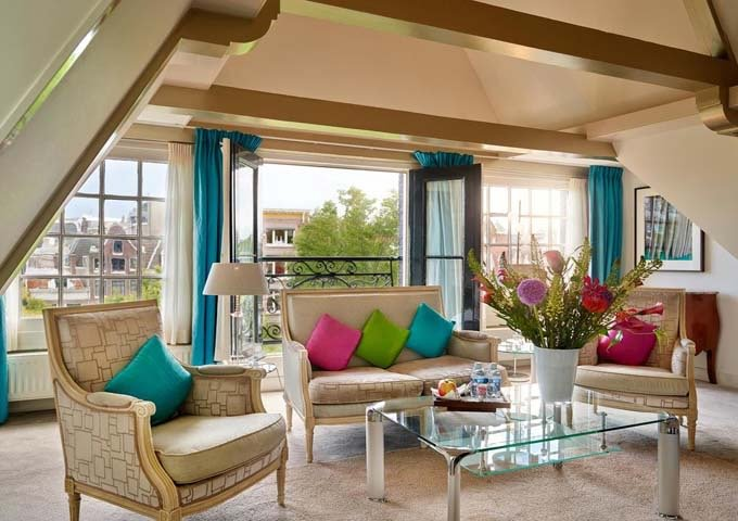 Grand Suites feature a bright and spacious living area.