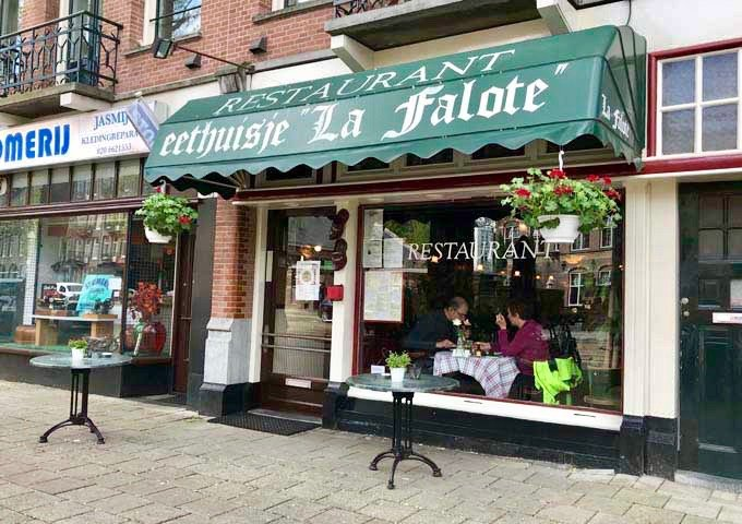 La Falote is known for it's inexpensive home-style Dutch dishes.
