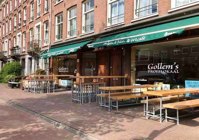 Gollem's Proeflokaal is popular for its wide range of Belgian beers.