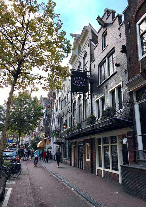 D'Vijff Vliegen serves modern Dutch dishes in a 17th-century canal house.