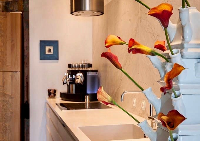 All rooms feature fresh flowers and espresso makers.