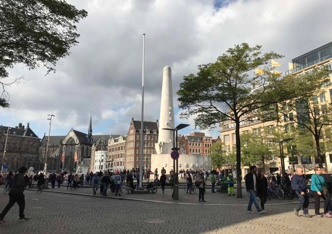 Dam Square is Amsterdam's busiest square, and features the Nationaal Monument.