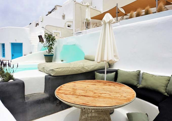 The Sophia Honeymoon Suite has a spacious terrace with a plunge pool.