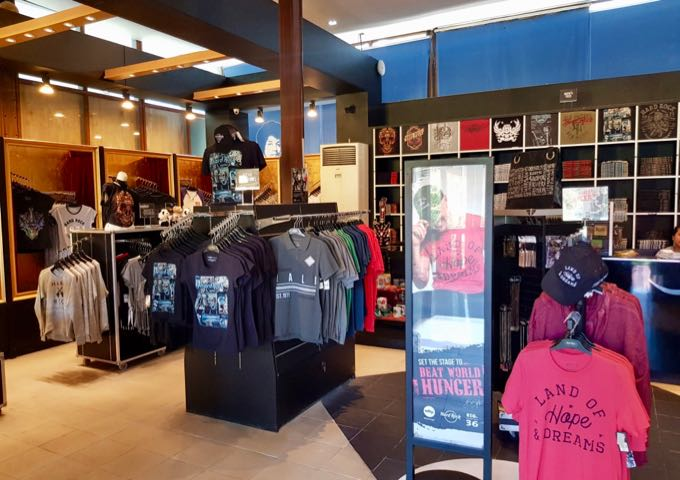 Another outlet near the lobby also sells Hard Rock souvenirs.