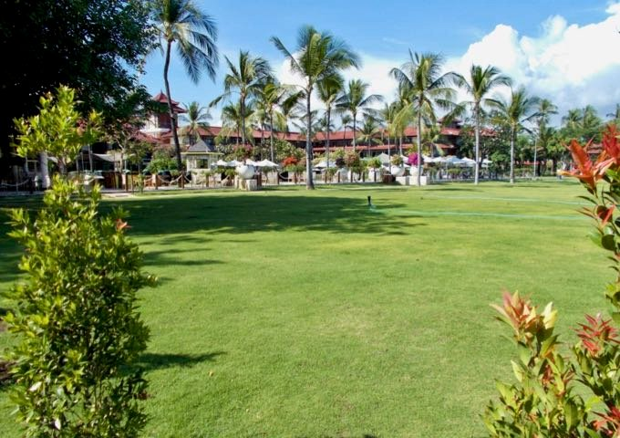 The resort has excellent grounds, uncommon in Kuta.