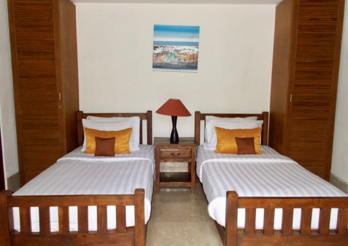 The family-friendly villas have 3 or 4 bedrooms each.