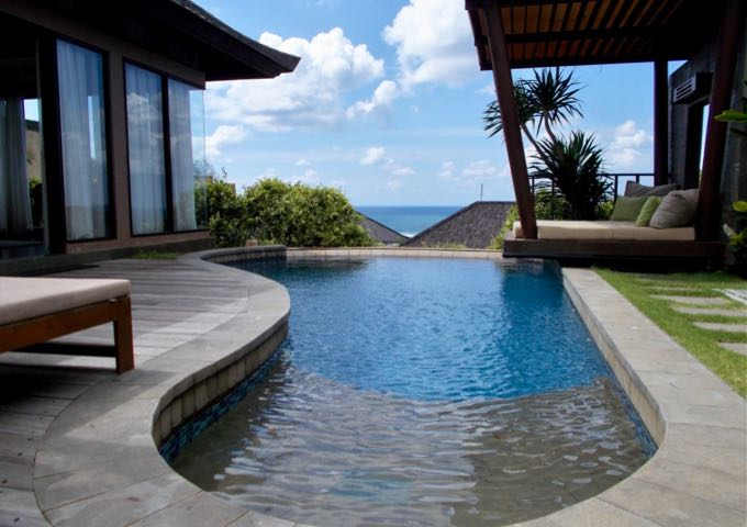 Some villas boast a private pool.