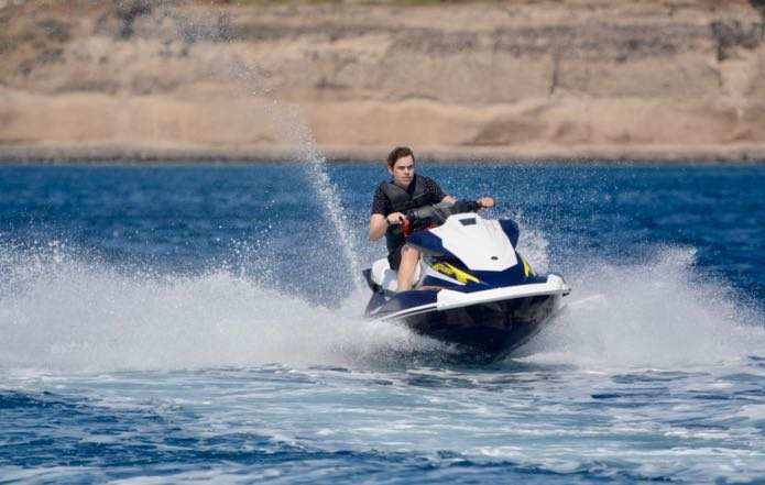 The Santorini Volcano Jet Ski Tour.
