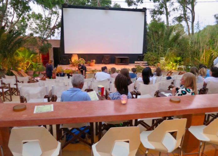 Kamari Open Air Cinema in Santorini.