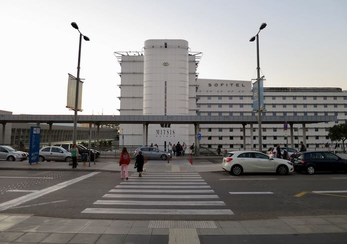 Hotel at Athens International Airport in Greece.