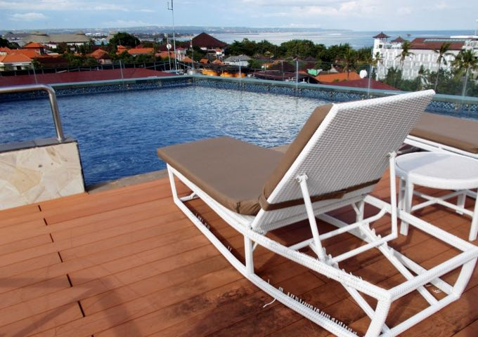 The rooftop pool is smaller but offers great views.