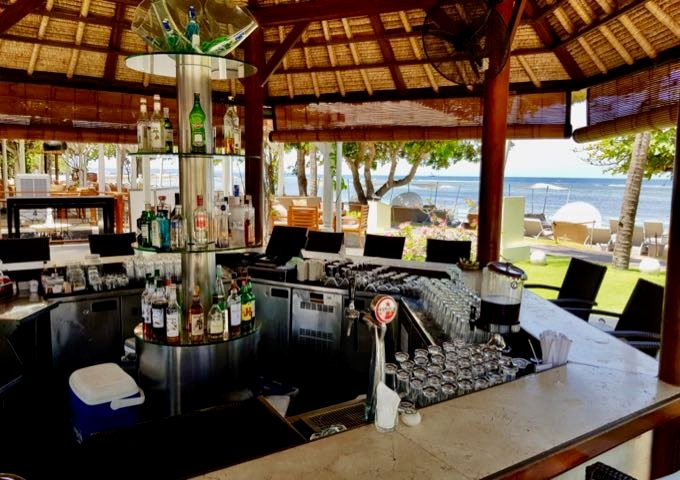 The Ikan Beachfront Restaurant & Bar offers lovely sea views.