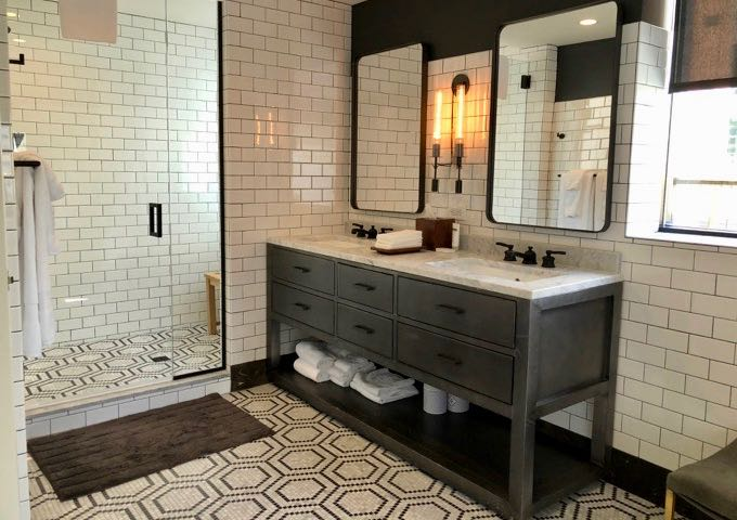 Master Bathroom in Hotel Theodore's Residence Suite
