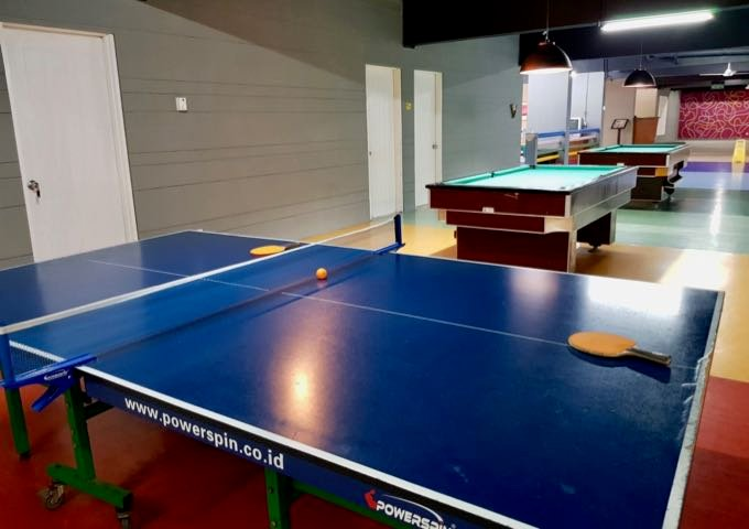 The resort sports Sanur's largest games room.