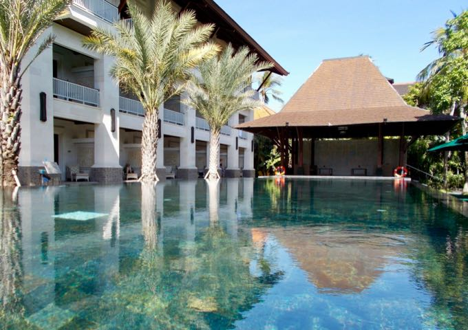 Review of Puri Santrian Resort Hotel in Sanur, Bali.