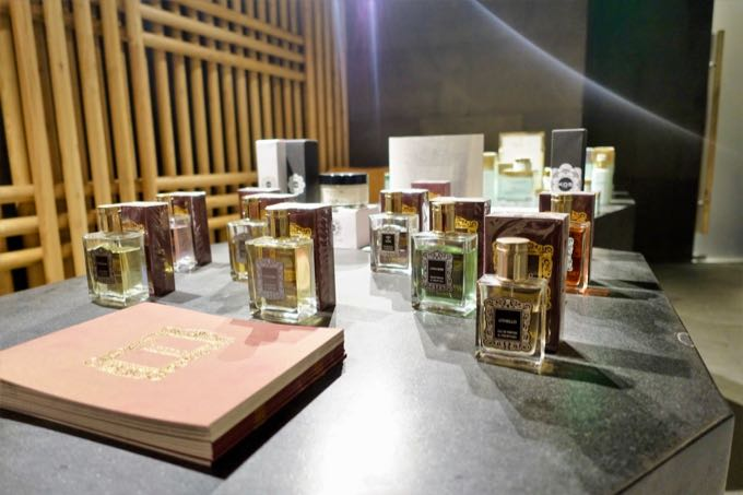 The hotel's luxury spa sells exclusive products.