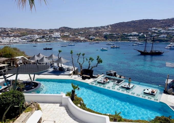 Review of Kivotos Mykonos Hotel in Mykonos, Greece.