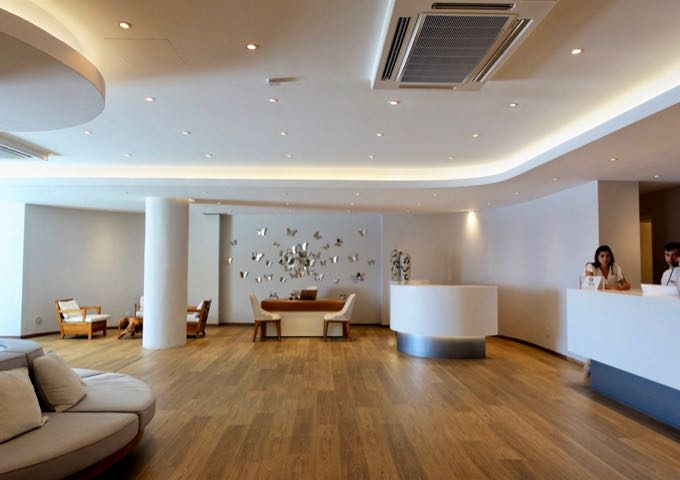 The hotel features sleek and contemporary interiors, and the reception is staffed through the day.
