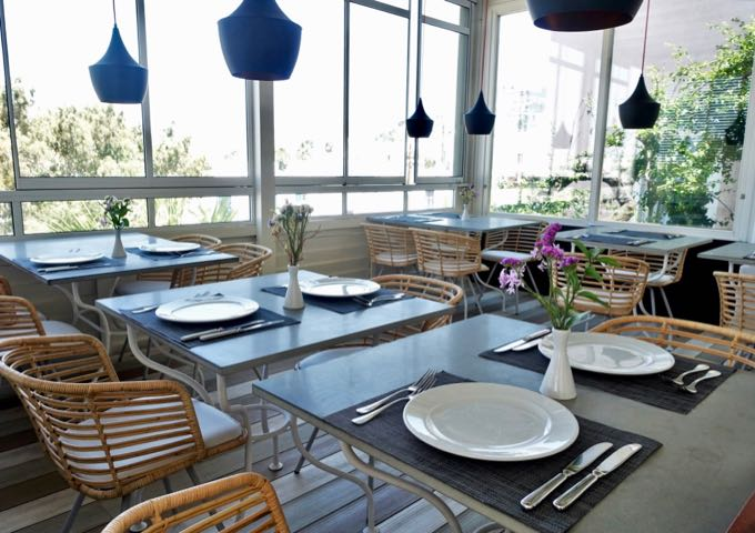 Thioni Restaurant serves gourmet and contemporary Greek cuisine.