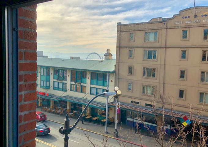 View of Pike Place Market from Palihotel Seattle
