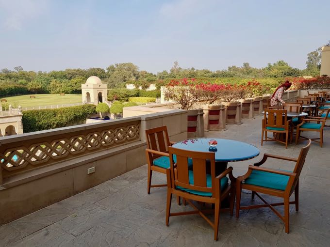 The Bar at the Oberoi offers excellent views of the Taj Mahal.