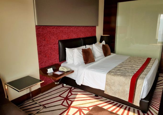 The colorful rooms and nicely furnished.