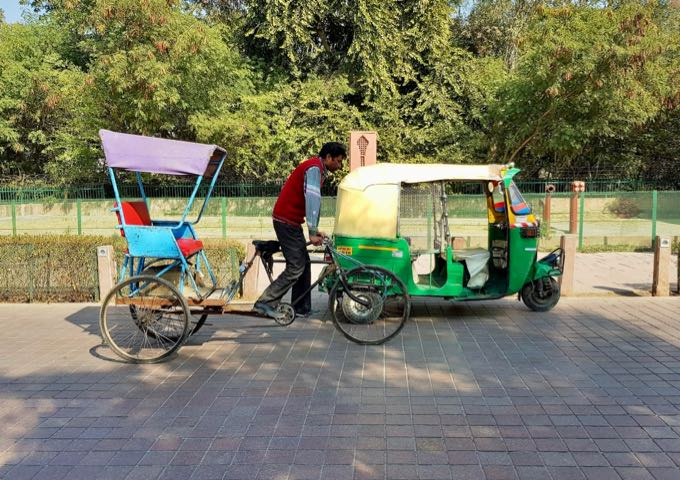 Bicycle and auto-rickshaws are a convenient way to get around.