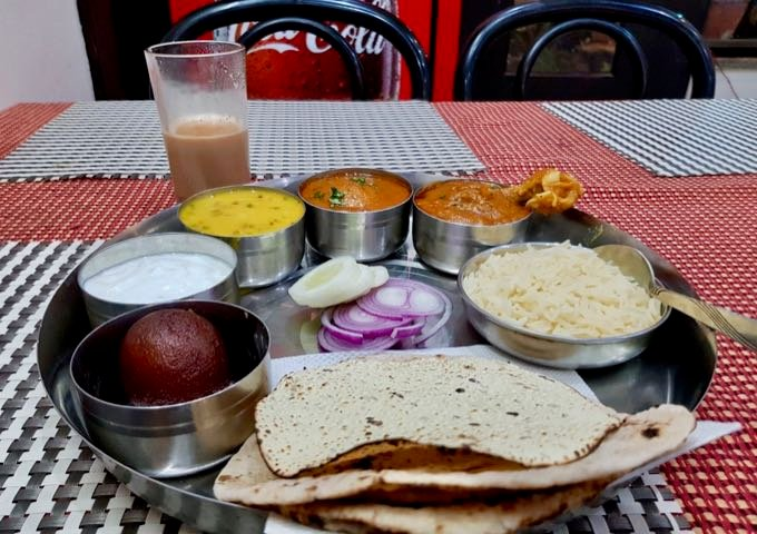 Riva Restaurant serves excellent thalis.