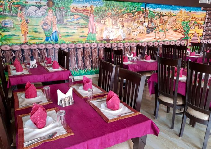 Spice Darbar offers a vibrant decor and delicious food.