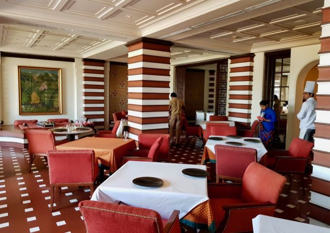 The Oberoi's excellent Esphahan restaurant offers pool and garden views.