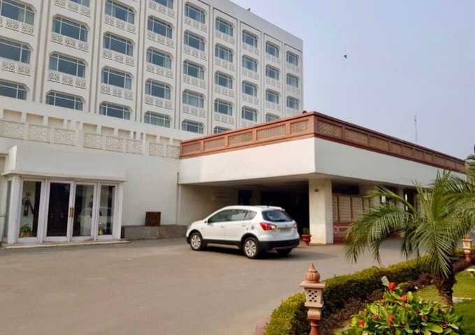 The hotel is located in central Agra.