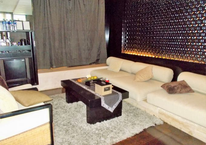 Larger suites come with spacious living areas.