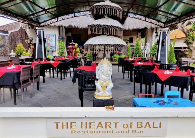 The Heart of Bali is a stylish restaurant to the north of the resort.