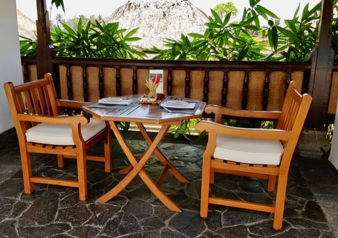 Aira Café by the pool serves casual meals.