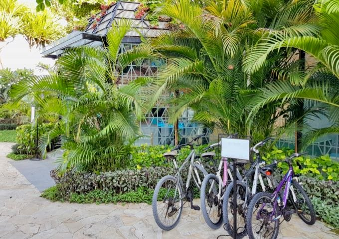Guests can rent bicycles at the resort.