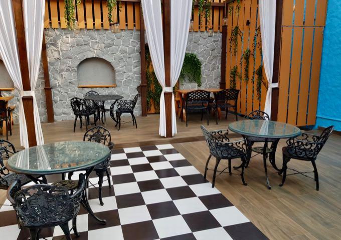52 Janpath offers a western menu and a courtyard setting.