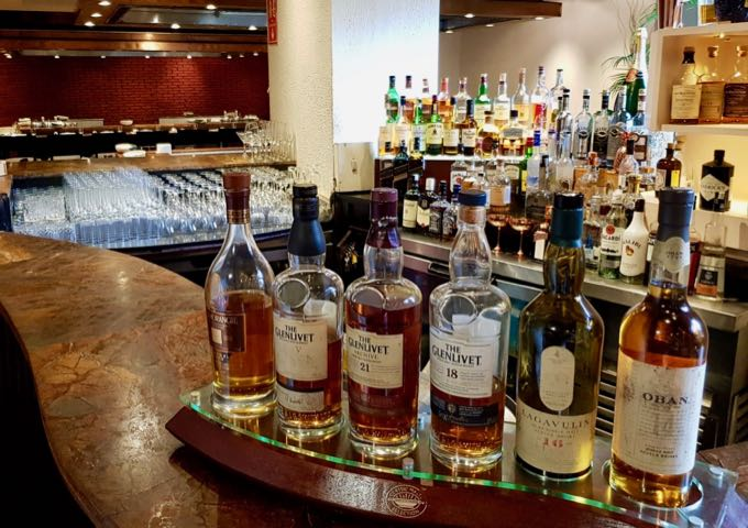The China Kitchen's bar has a good selection of imported spirits.